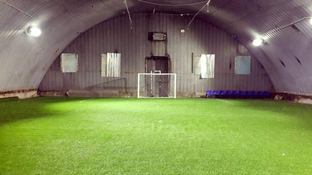 Крытое футбольное поле - ангар в Каскелене