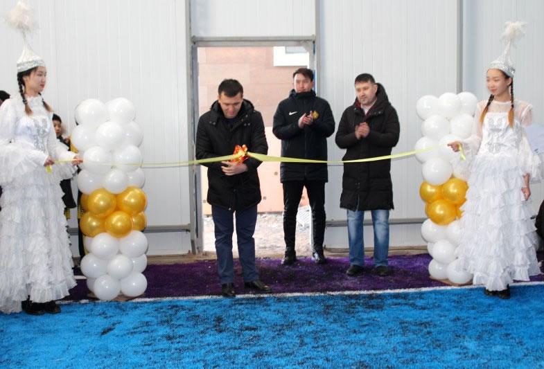 """Открытие крытого футбольного поля в спорткомплекск """"Алтын Ауыл"""""""